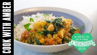 Cauliflower and Chickpea Curry | #10HealthyMeals | Cook With Amber