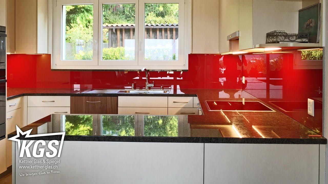 3teilige Küchenrückwand aus lackiertem Diamantglas - YouTube