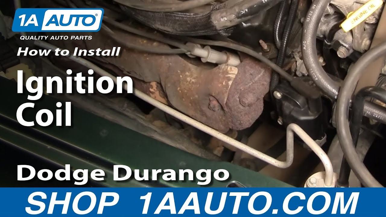how to install replace ignition coil dodge durango dakota 3 9l 5 2l rh youtube com