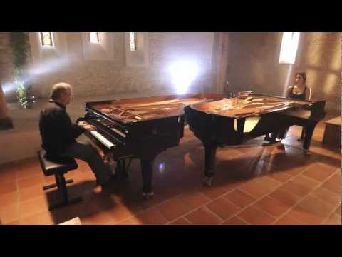 Cristina Casale & Emmanuel Ferrer-Laloë play Tempo di Hard Rock by R.R. Bennett for two pianos