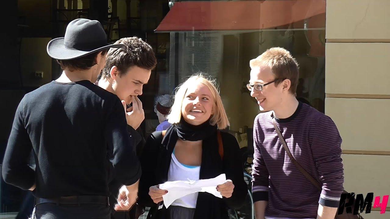 Съем девушек на чешских улицах