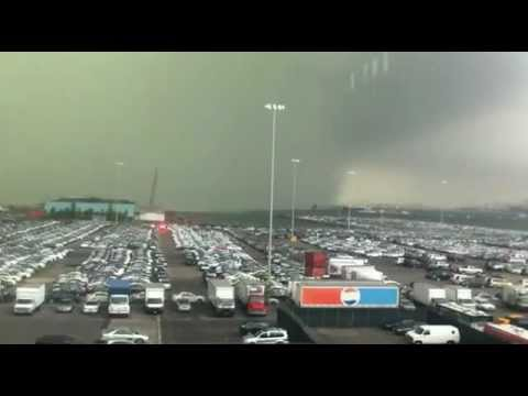 New York Tornado as it Hits South Brooklyn Port   9 16 10   YouTube