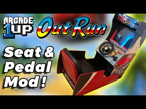 Arcade1Up Outrun Seat and Pedal Mod! from Squirrel From The Future