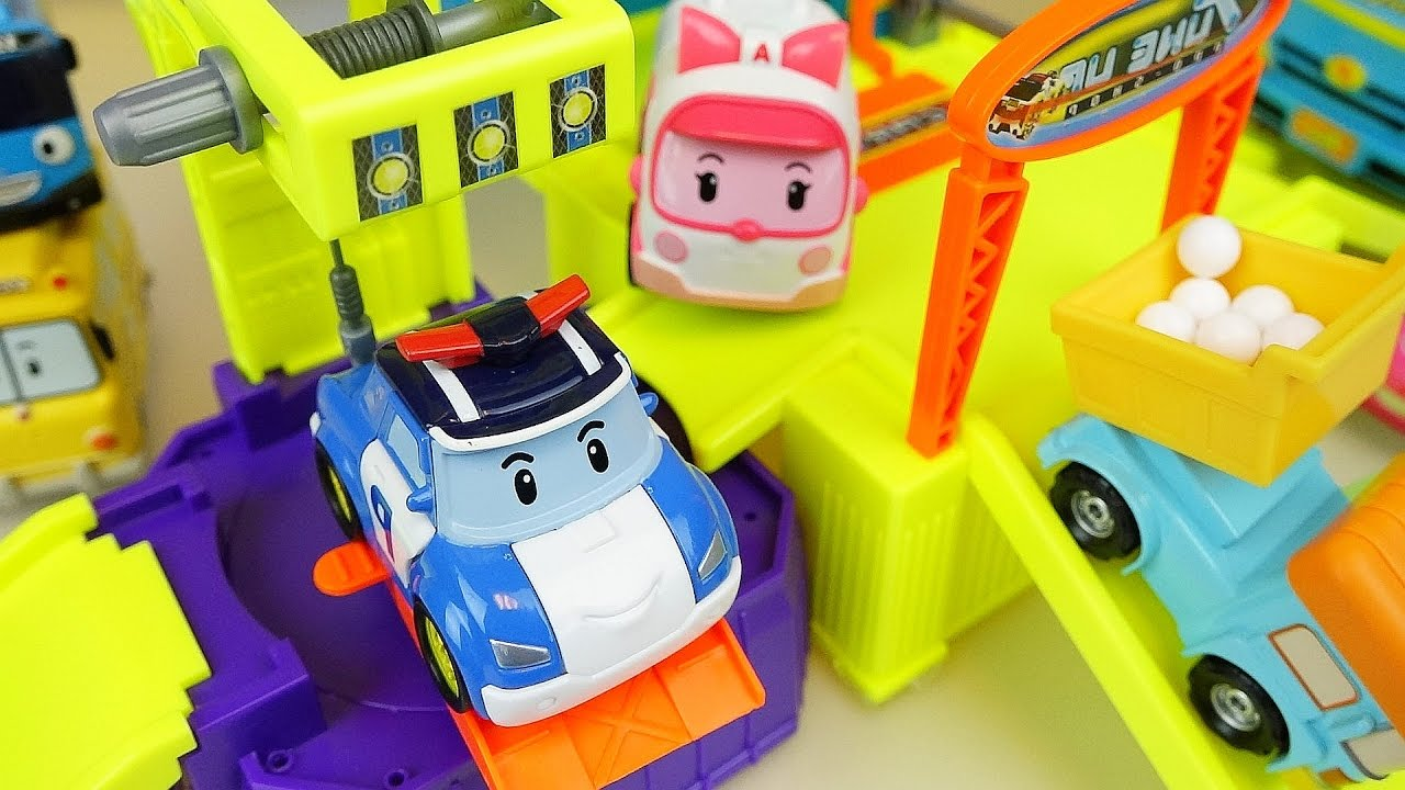 Robocar Poli Car And Truck Toys Shop Construction With Tayo Bus Mainan 1 Set
