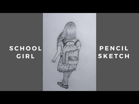 How To Draw A School Girl Using Pencil Sketch | Easy Drawing Tutorial thumbnail