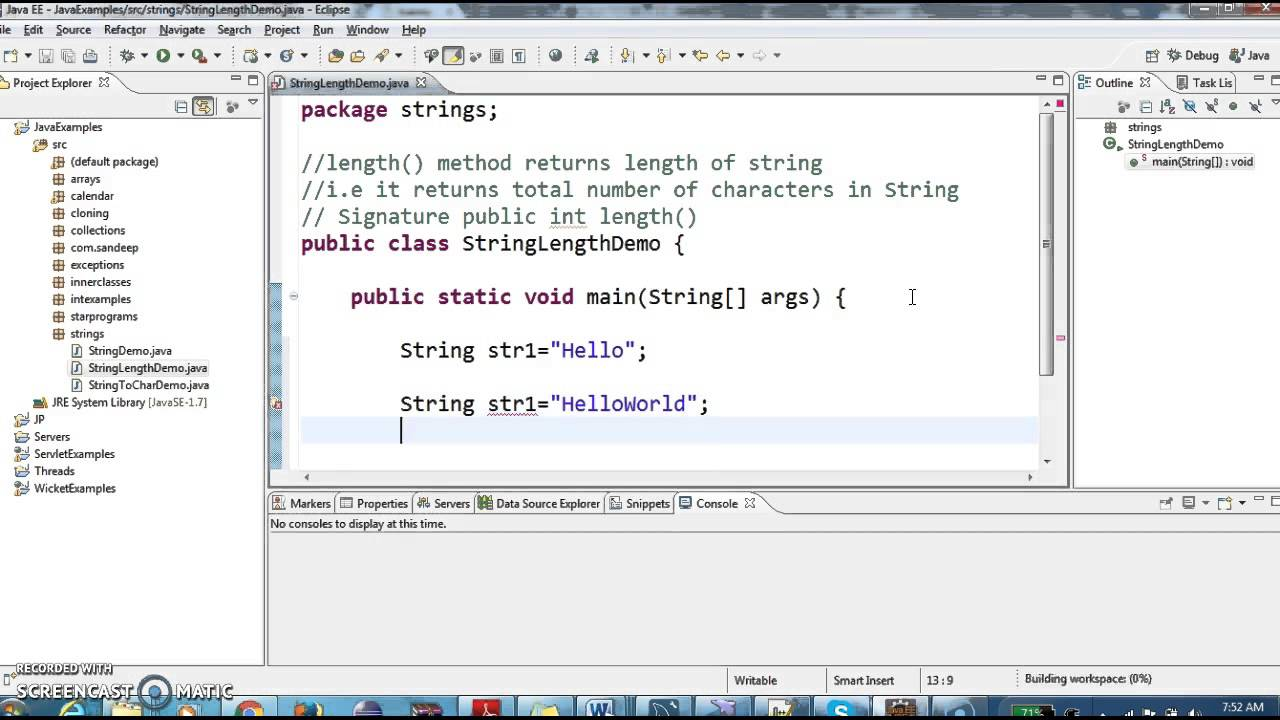 How to find length of String in java? - YouTube
