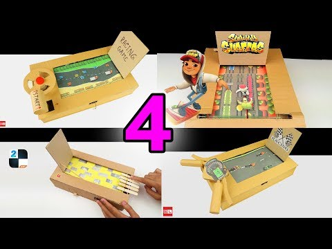 TOP 4 Amazing Board Racing Games from Cardboard - DIY Compilations
