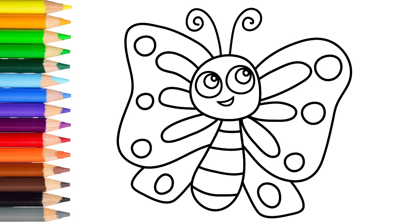 How to draw a cutebutterfly easy learn drawing step by step with draw easy