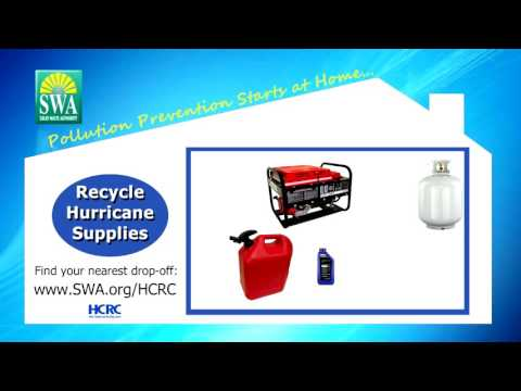 2016 Solid Waste Authority of PBC Haz Waste Hurricane Supplies