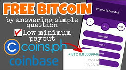 FREE BITCOIN by answering simple question with proof of payment | Legit app 2020
