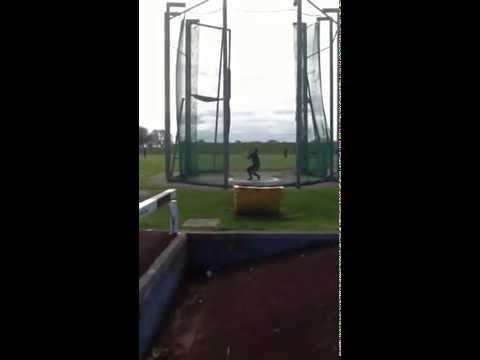 Slow motion hammer throw Matt Sutton