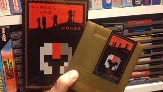 Swords and Runes - NES ( homebrew ) unboxing & review