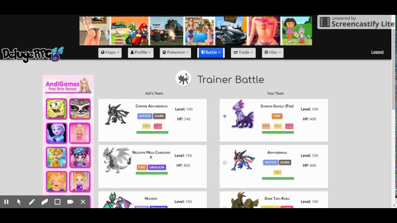 list of mega pokemon in delugerpg