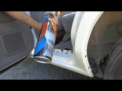Антикоррозийная обработка порогов мовилем на Mazda Demio - Смешные видео приколы