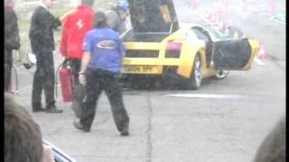 Lamborghini Gallardo saved from going up in smoke