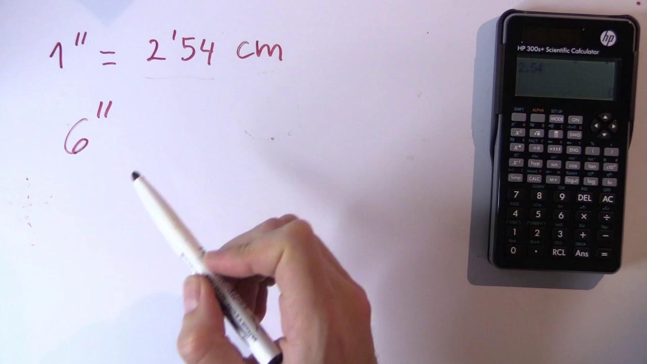 Cuántos Centímetros Son 6 Pulgadas 6 En Cm Youtube