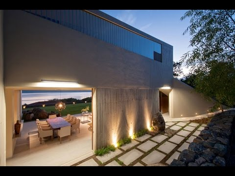 Modern House Built On Hill Slope Surround Lake Chapala