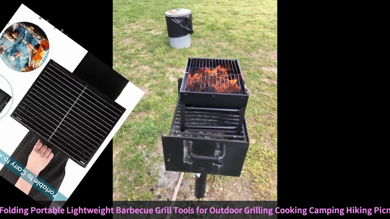 Folding BBQ Grill Lightweight Portable Barbecue Charcoal Grill Tools for Outdoor