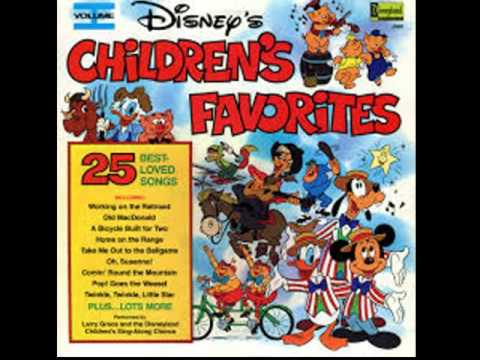 Disney's Childrens Favorites Cassette Sides 1 & 2