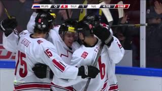 0:1 Goal FUCHS Jason (Russia - Switzerland) World Junior Championship 2014