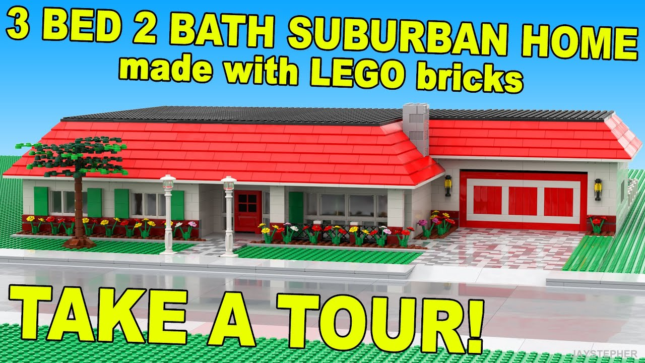 Room 2 Build Bedroom Kids Lego: Three Bedroom Two Bath Lego Suburban Home