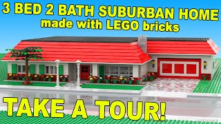Custom Build - Three Bedroom Two Bath Lego Suburban Home [cc]
