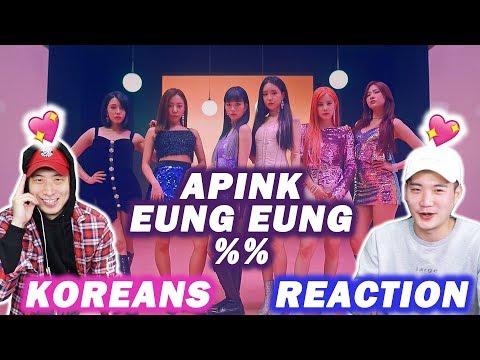 [ENG SUB]🔥  KOREAN BOYS React to APINK - %% (EUNG EUNG(응응))