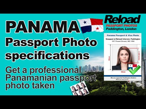 Panama Passport Photo and Visa Photo snapped in Paddington, London