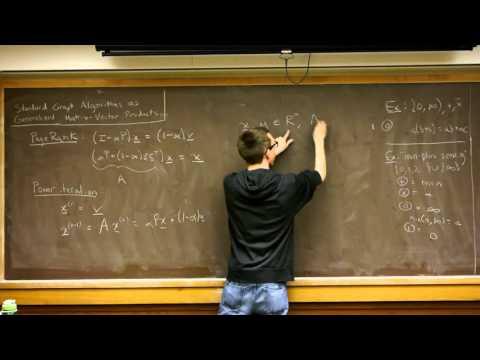 Graph algorithms as matrix vector products, Bryan Rainey