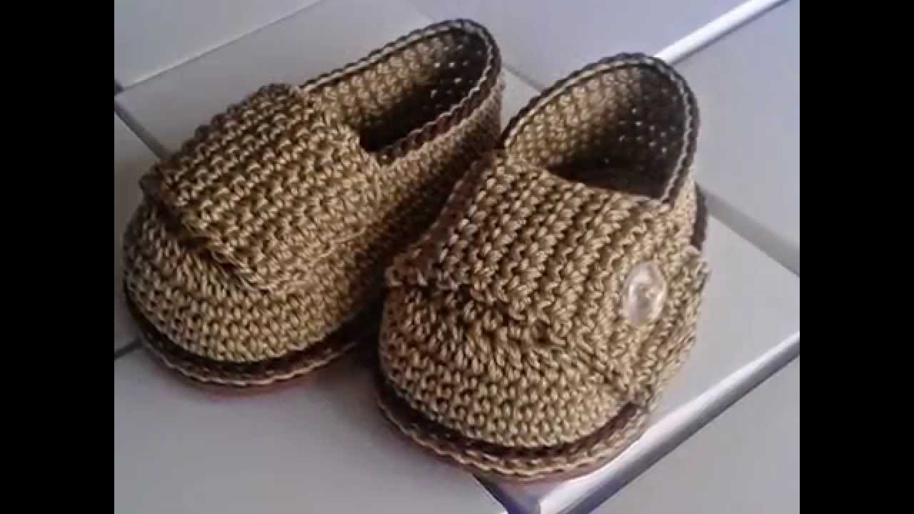 2a7b68d0f Mocasín Bebé a Crochet - Rosa Forno Collection - YouTube