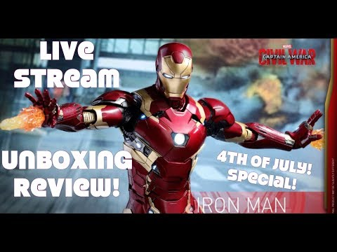 LIVE STREAM HOT TOYS unboxing MMS353 Mark 46 die-cast figure!
