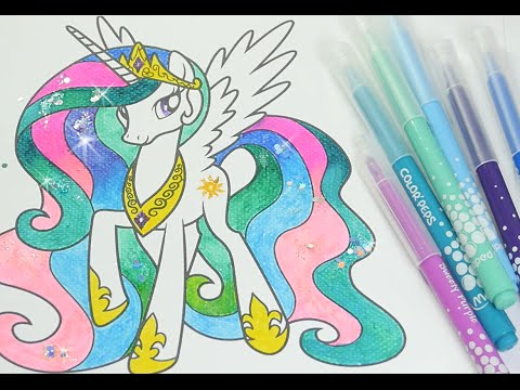 - MLP Coloring Book My Little Pony Coloring Pages For Kids Princess Celestia  - YouTube