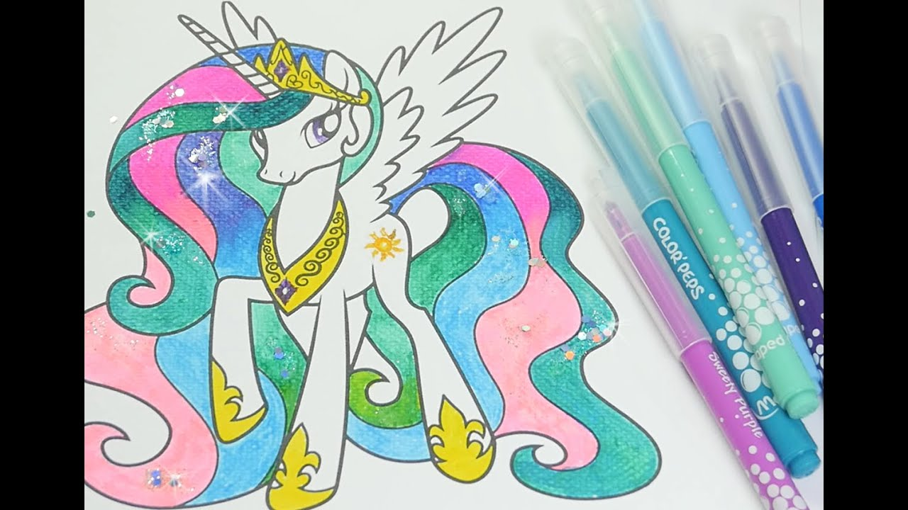 MLP Coloring Book My Little Pony Pages For Kids Princess Celestia