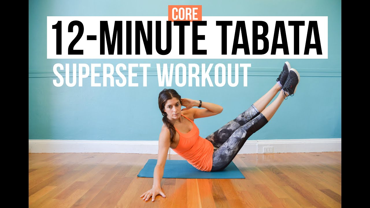 12 Minute Core Hiit Workout 3 Tabata Supersets Of Bodyweight Ab More Circuit Workouts Cardio Gym Exercises