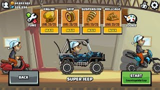 Hill Climb Racing 2 Super Jeep Maxed Engine Grip Suspension Rollcage