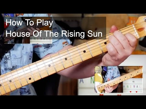 'House Of The Rising Sun' The Animals Guitar & Bass Lesson