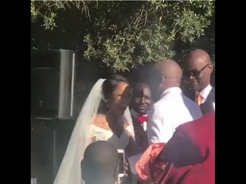 The Best & Funniest Moments Of Banky W & Adesua Etomi's White Wedding (Video)