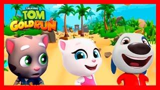 КОТ ТОМ БЕГ ЗА ЗОЛОТОМ #39. ГОВОРЯЩИЙ ТОМ И АНДЖЕЛА ДРУЗЬЯ - игры мультики видео для детей.