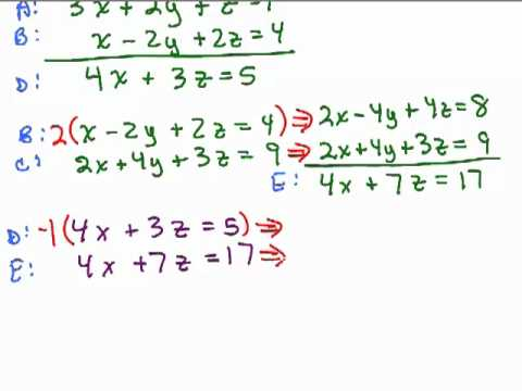System of Equations 3 variables - 1 - YouTube