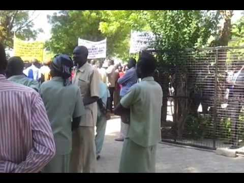 Protesters in Jonglei South Sudan