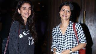 Konkona Sen Sharma, Aditi Rao Hydri at Spotted At PVR Theatre