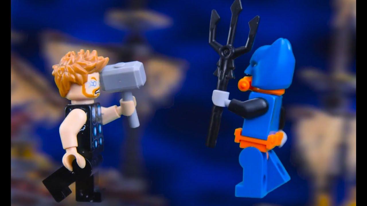 Lego Superheroes Aquaman vs Thor    Lego NCN