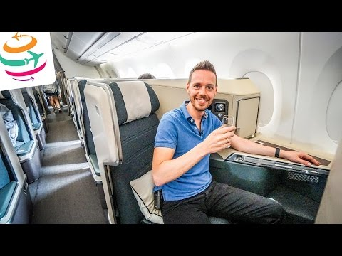 Cathay Pacific Brand New A350 (ENG) Business Class | GlobalTraveler.TV