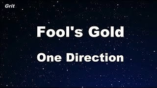 Fool's Gold - One Direction Karaoke 【No Guide Melody】 Instrumental