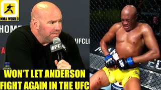MMA Community Reacts to Uriah Hall ending Anderson Silva's UFC career with a TKO victory,Dana White