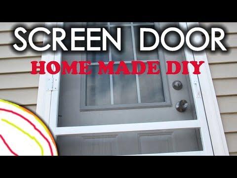 How to make homemade Easy Plastic Screen Door DIY