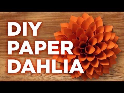 Giant Paper Dahlia: Pinterest Inspired Weekday Crafternoon - HGTV