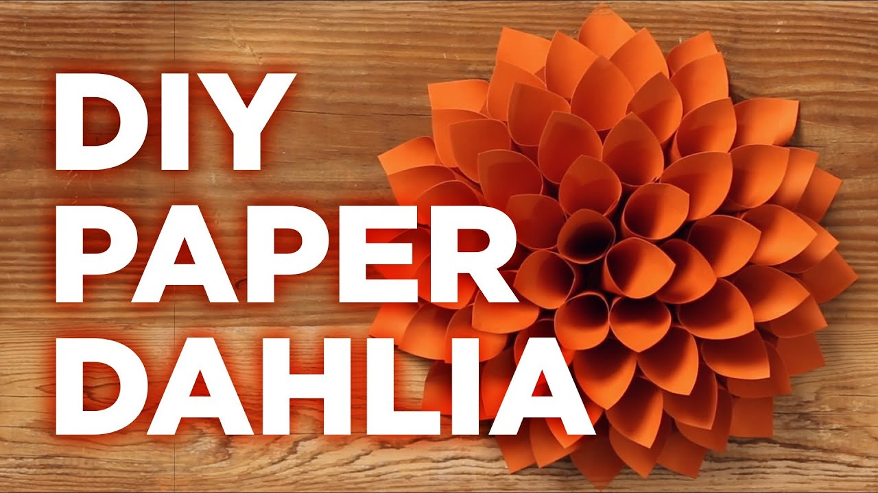 Giant Paper Dahlia Pinterest Inspired Weekday Crafternoon