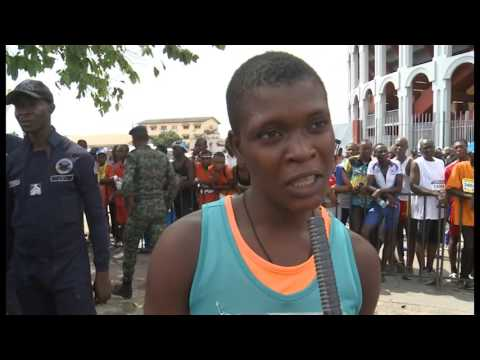 Sport/athlétisme: marathon international du district d'Abidjan