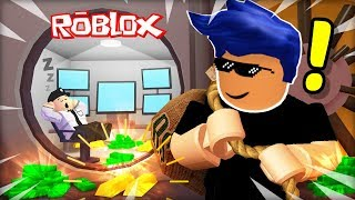 ROBLOX NOOB STOLE THE BANK, WILL HE RUN AWAY? (ROBLOX: Bank Obby)